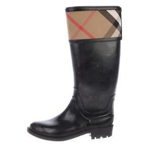 Authentic 😍 Burberry Nova Check Rain Boots- 39